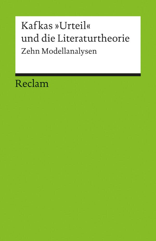 Kafkas 'Urteil' und die Literaturtheorie als Taschenbuch