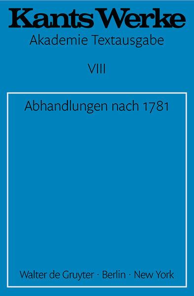 Abhandlungen nach 1781 als Buch (gebunden)