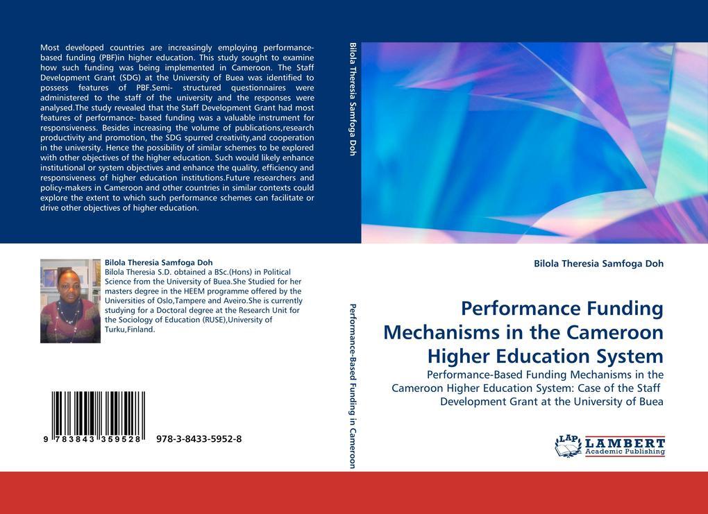 Performance Funding Mechanisms in the Cameroon Higher Education System als Buch (gebunden)