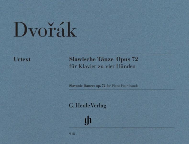Slawische Tänze op. 72 für Klavier zu vier Händen als Buch (kartoniert)