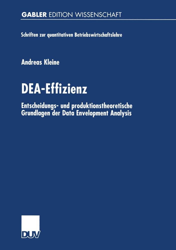 DEA-Effizienz als Buch (kartoniert)