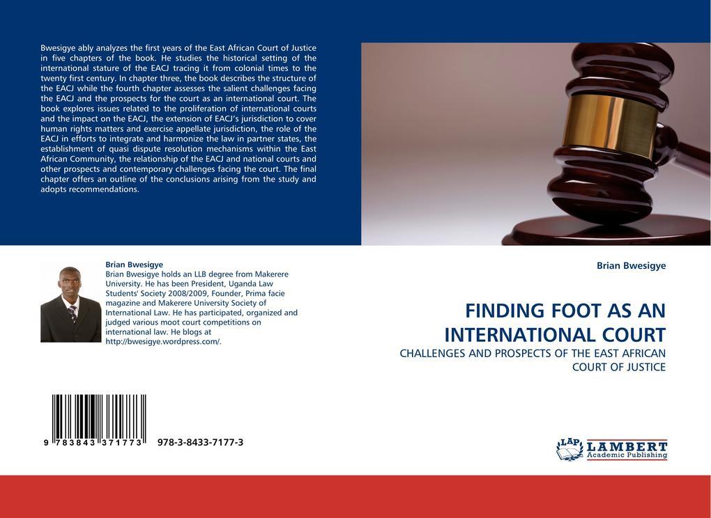 FINDING FOOT AS AN INTERNATIONAL COURT als Buch (gebunden)