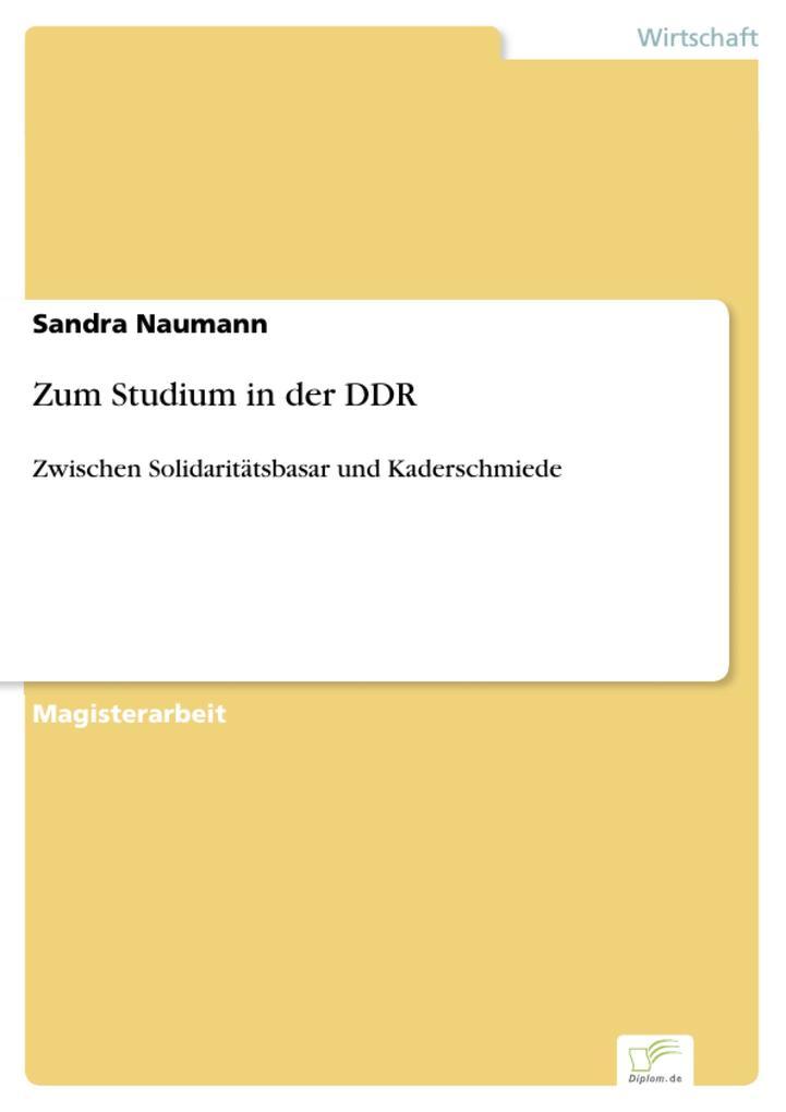 Zum Studium in der DDR als eBook pdf