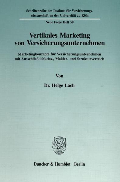 Vertikales Marketing von Versicherungsunternehmen. als Buch (kartoniert)