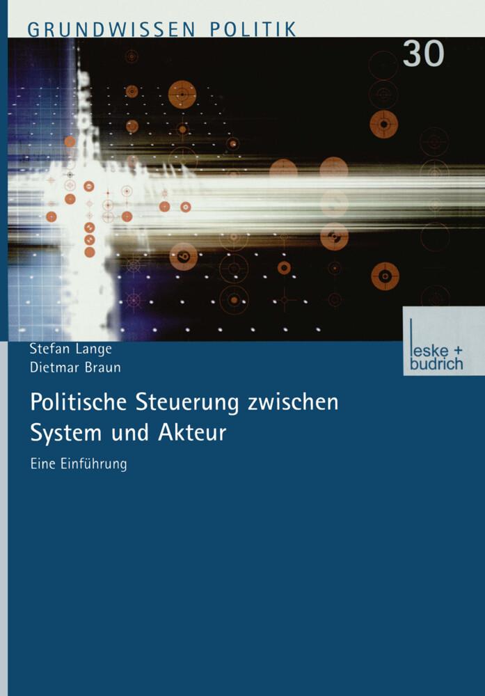 Politische Steuerung zwischen System und Akteur als Buch (kartoniert)