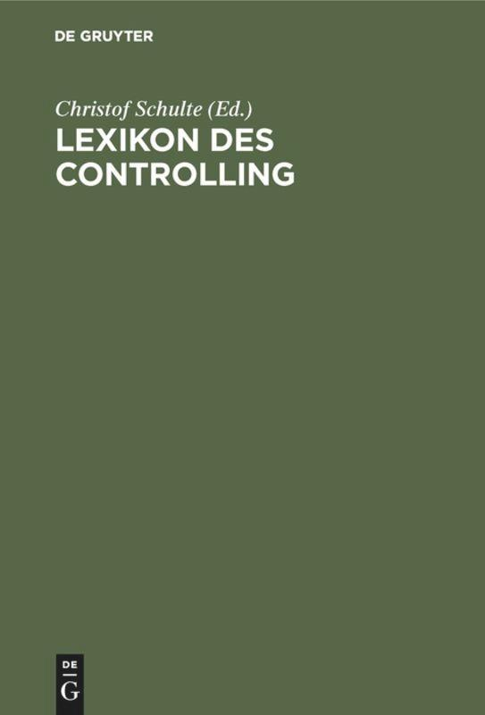 Lexikon des Controlling als Buch (gebunden)