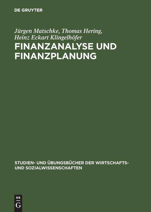 Finanzanalyse und Finanzplanung als Buch (gebunden)
