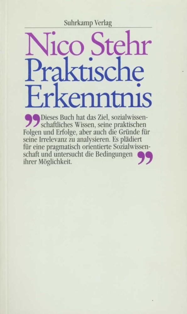 Praktische Erkenntnis als Buch (kartoniert)