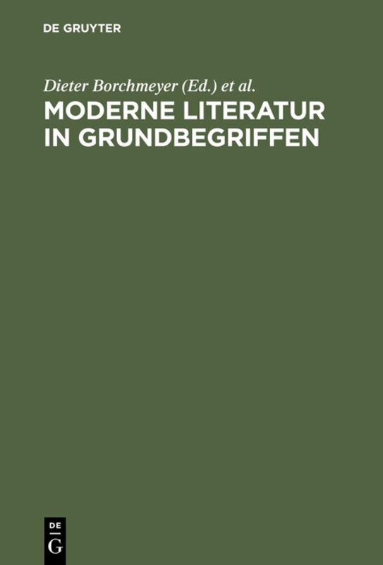 Moderne Literatur in Grundbegriffen als Buch (gebunden)