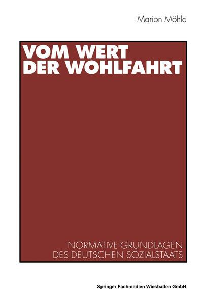 Vom Wert der Wohlfahrt als Buch (kartoniert)