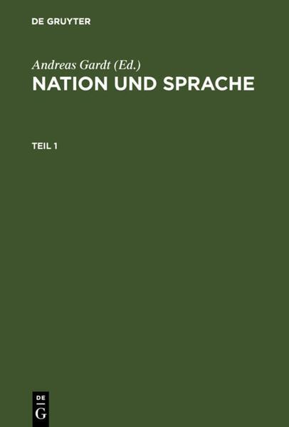 Nation und Sprache als Buch (gebunden)