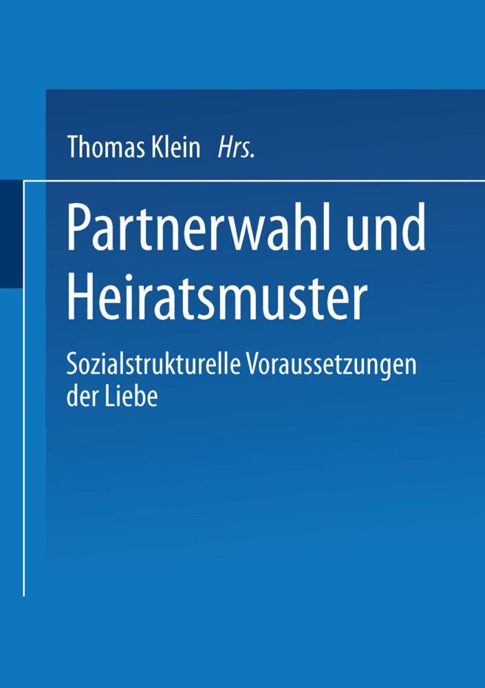 Partnerwahl und Heiratsmuster als Buch (kartoniert)