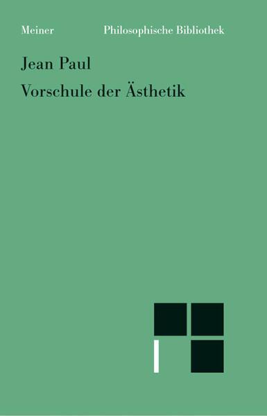 Vorschule der Ästhetik als Buch (kartoniert)