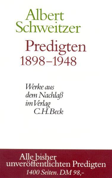 Predigten 1898-1948 als Buch (gebunden)