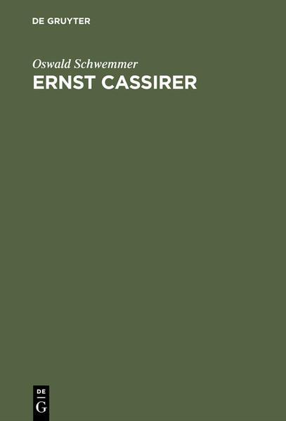 Ernst Cassirer als Buch (gebunden)