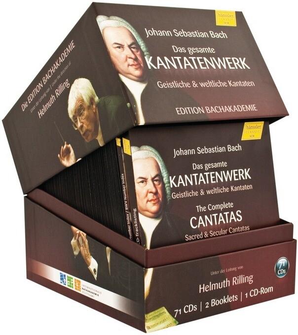 Das gesamte Kantatenwerk. The Complete Cantatas, 71 Audio-CDs + 1 CD-ROM als CD