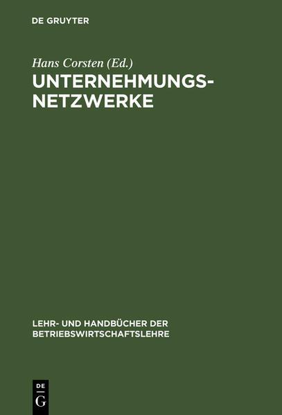 Unternehmungsnetzwerke als Buch (gebunden)