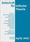 Zeitschrift für kritische Theorie / Zeitschrift für kritische Theorie, Heft 24/25