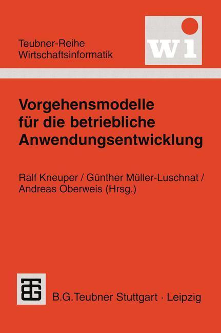 Vorgehensmodelle für die betriebliche Anwendungsentwicklung als Buch (kartoniert)