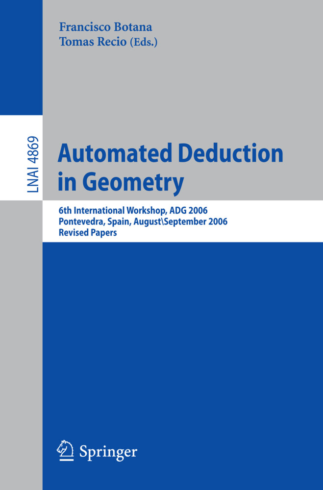 Automated Deduction in Geometry als Buch (kartoniert)