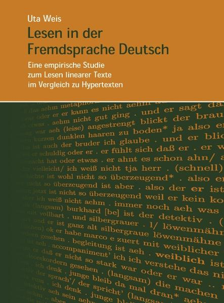 Lesen in der Fremdsprache Deutsch-Eine empirische Studie zum Lesen linearer Texte... als Buch (kartoniert)