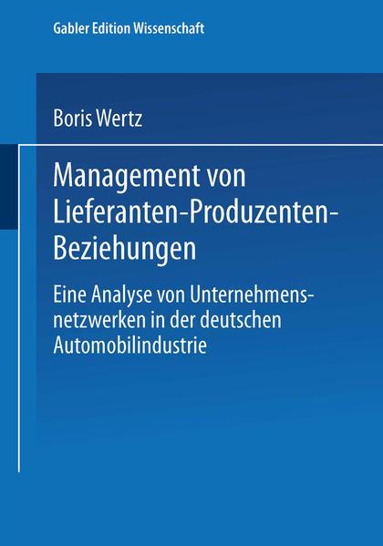 Management von Lieferanten-Produzenten-Beziehungen als Buch (kartoniert)