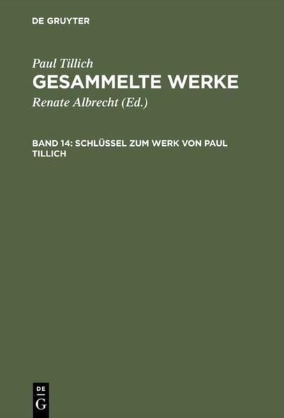 Schlüssel zum Werk von Paul Tillich als Buch (gebunden)