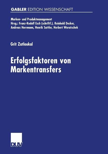 Erfolgsfaktoren von Markentransfers als Buch (kartoniert)