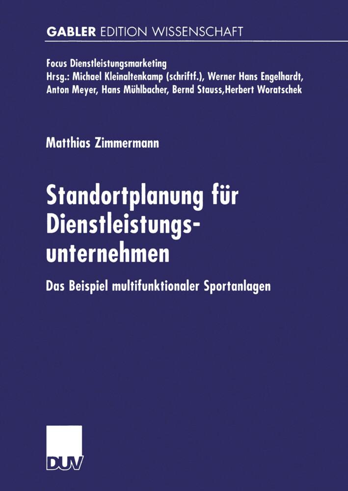 Standortplanung für Dienstleistungsunternehmen als Buch (kartoniert)