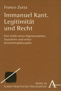 Immanuel Kant. Legitimität und Recht als Buch (gebunden)