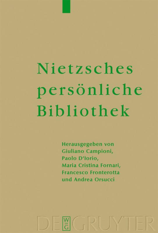Nietzsches persönliche Bibliothek als Buch (gebunden)