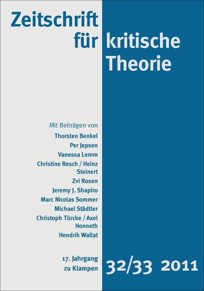 Zeitschrift für kritische Theorie / Zeitschrift für kritische Theorie, Heft 32/33. H.32/33 als Buch (kartoniert)