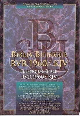 Bilingual Bible-PR-RV 1960/KJV als Buch (Ledereinband)