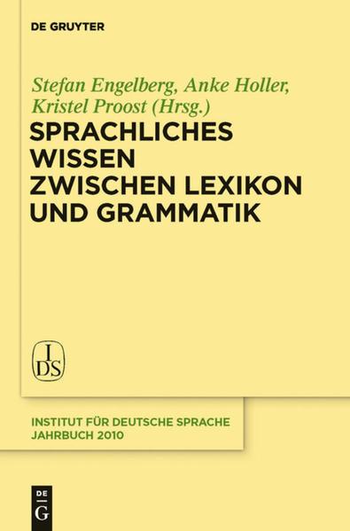 Sprachliches Wissen zwischen Lexikon und Grammatik als Buch (gebunden)