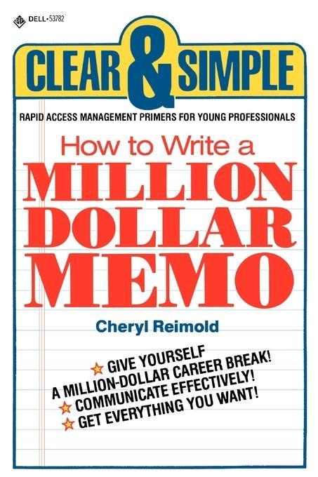 How to Write a Million Dollar Memo als Buch (kartoniert)