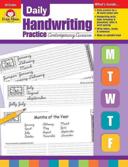 Daily Handwriting Contemporary Cursive als Taschenbuch
