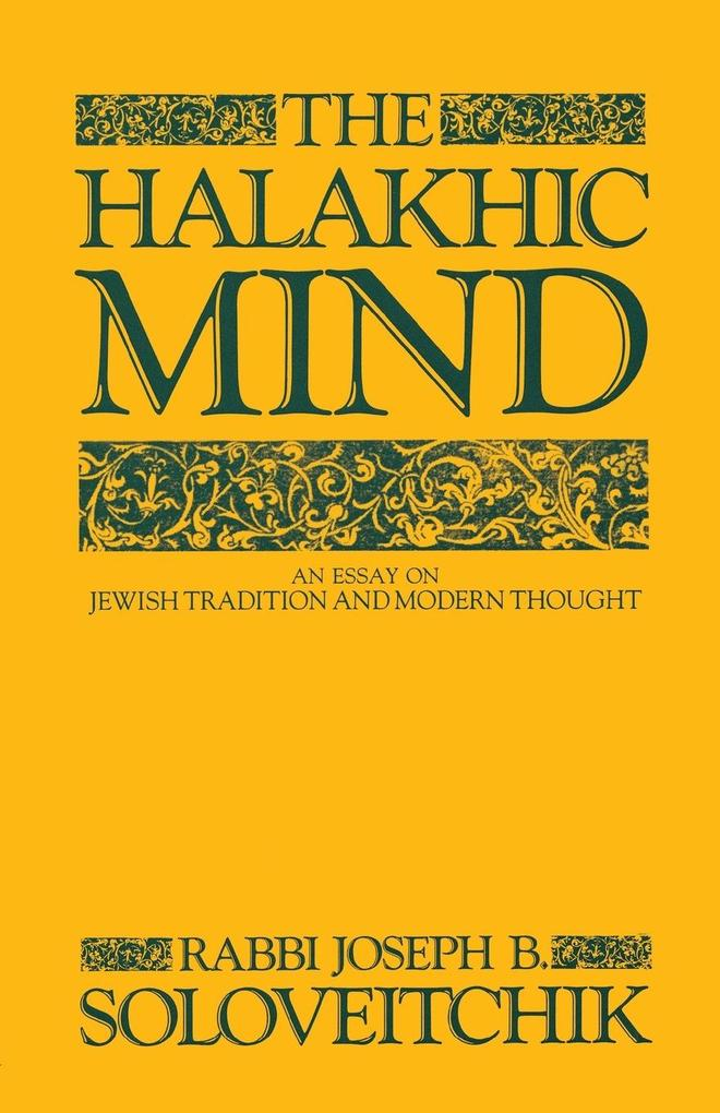 The Halakhic Mind als Buch (kartoniert)