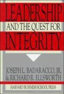 Leadership and the Quest for Integrity als Taschenbuch