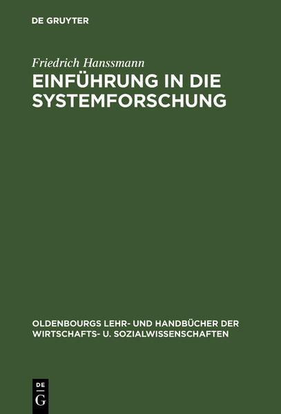 Einführung in die Systemforschung als Buch (gebunden)