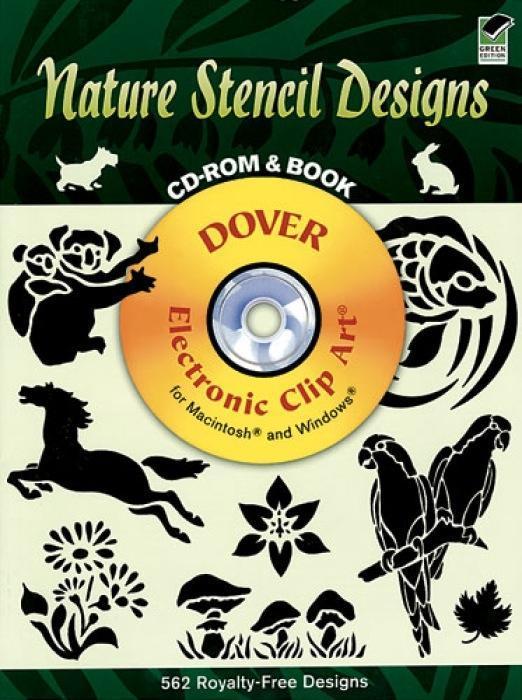 Nature Stencil Designs CD-ROM and Book als Taschenbuch