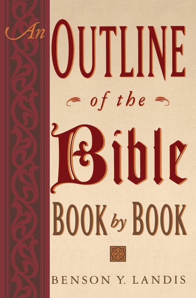 Outline of the Bible, An als Taschenbuch