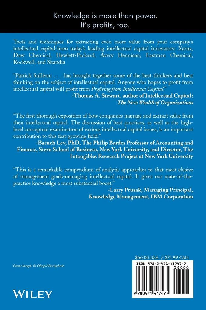 Profiting from Intellectual Capital als Taschenbuch