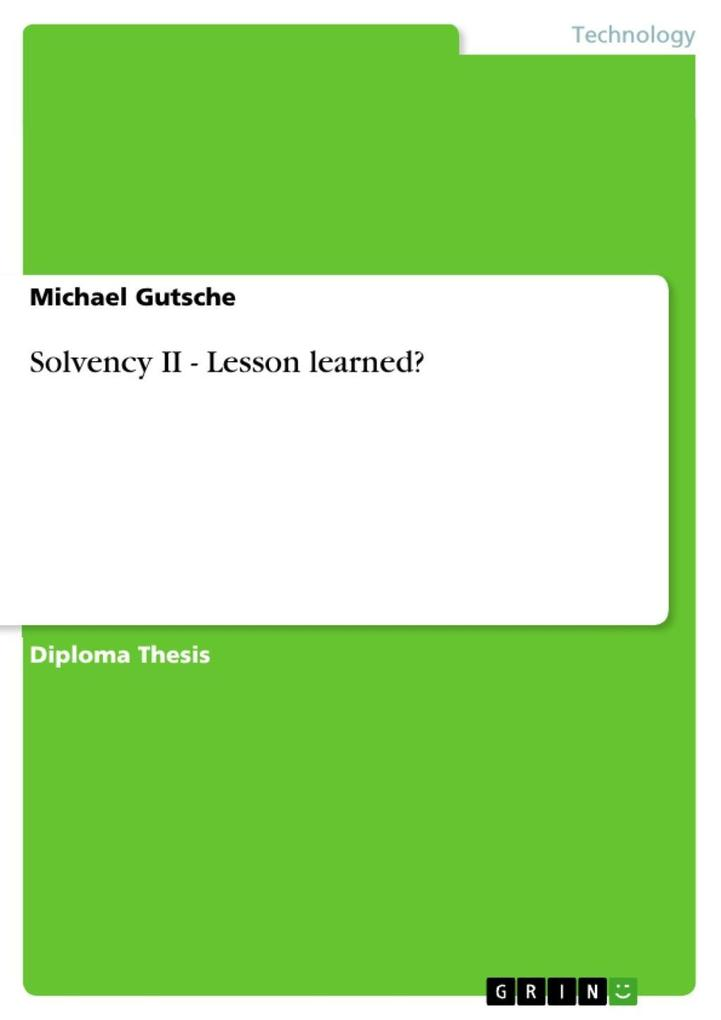 Solvency II - Lesson learned? als eBook epub