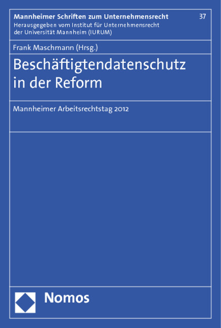 Beschäftigtendatenschutz in der Reform als Buch (kartoniert)