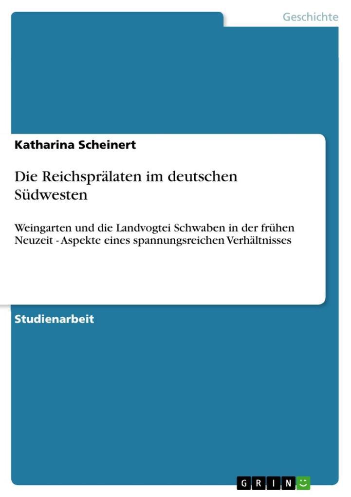 Die Reichsprälaten im deutschen Südwesten als eBook epub