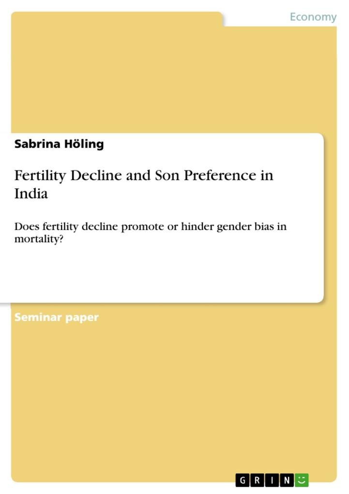 Fertility Decline and Son Preference in India als eBook pdf