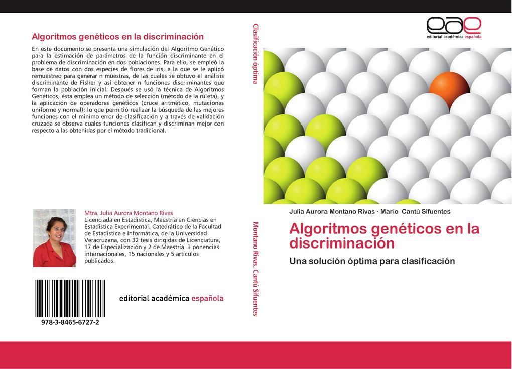Algoritmos genéticos en la discriminación als Buch (kartoniert)