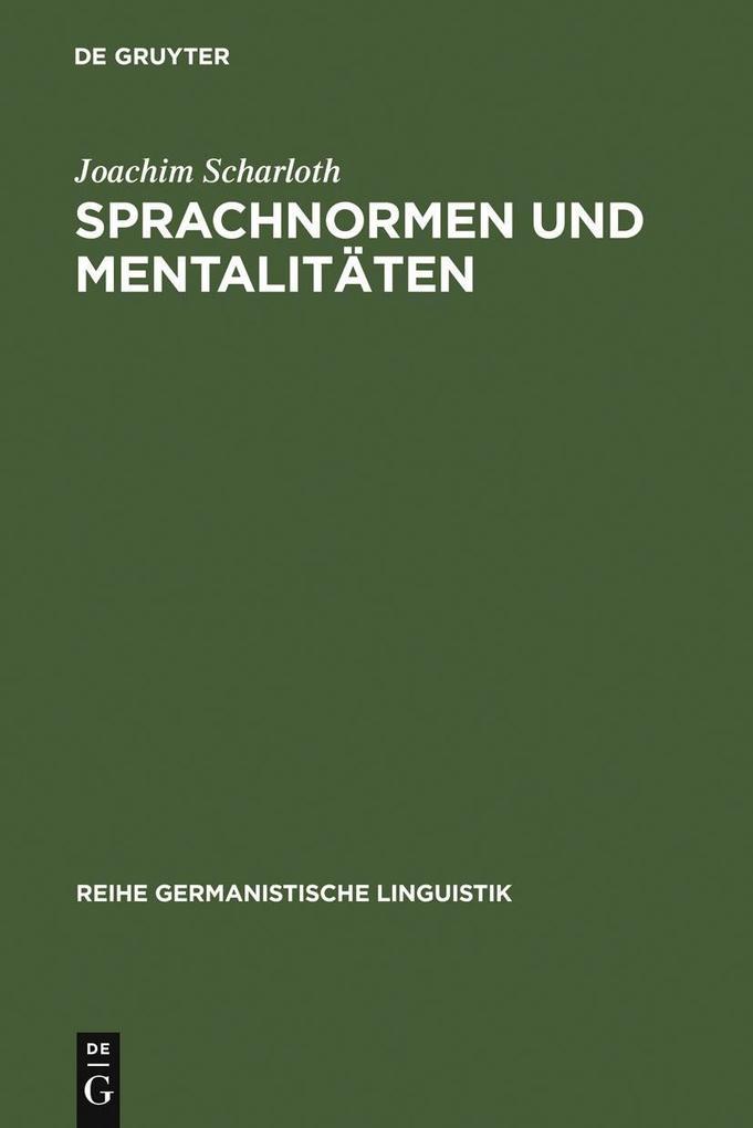 Sprachnormen und Mentalitäten als eBook pdf