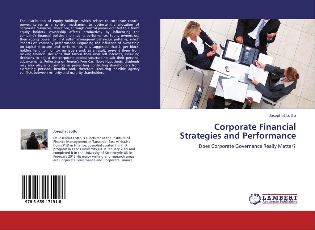 Corporate Financial Strategies and Performance als Buch (kartoniert)
