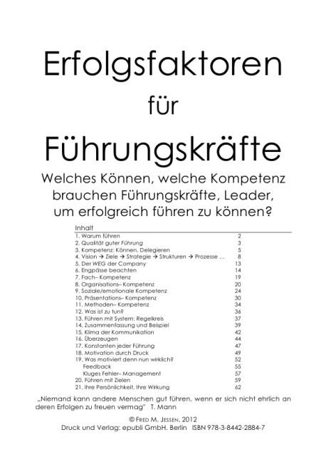 Erfolgsfaktoren für FK als Buch (kartoniert)